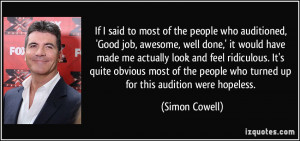 More Simon Cowell Quotes
