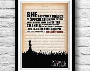 The Scarlet Letter poster, Scarlet Letter, Nathaniel Hawthorne ...