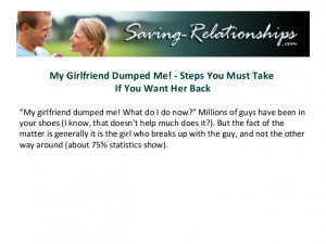 My Girlfriend Dumped Me! - Steps You Must Take If You Want Her Back