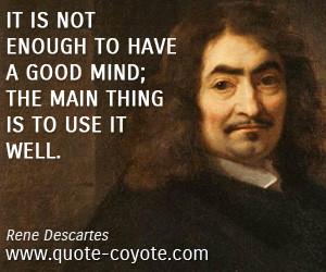Rene Descartes Famous Quotes Quotesgram