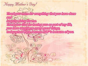 Meaningful Happy Mother's Day 2015 Quotes From Son And Daughter In Law