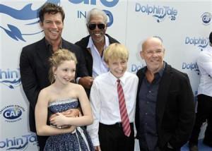 Jr., Morgan Freeman, (Front L-R) Cozi Zuehlsdorff, Nathan Gamble ...