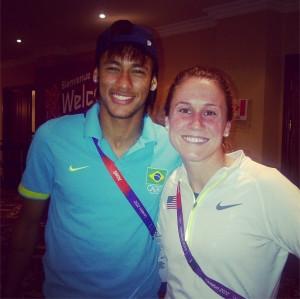 Heather O'Reilly with Brazilian star Neymar. (heatheroreilly/Instagram ...
