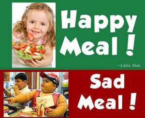 Happy meal vs sad meal