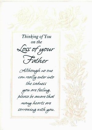 FREE: Sympathy Card Loss of Father New Card w envelope