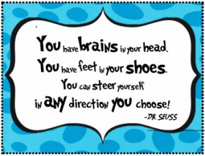 Dr. Seuss Quote - Poster for Classroom Wall from
