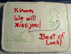 Good-bye Cake for Co-Worker