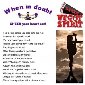 Cheerleader Poems