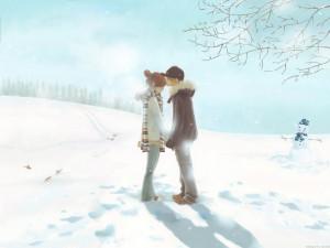 1024x768 Cute couple kissing desktop PC and Mac wallpaper