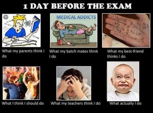 day before exam