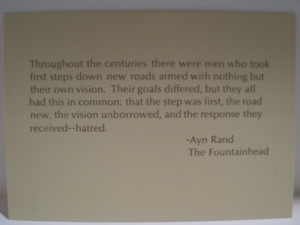 below is an excerpt from the fountainhead that i printed using metal ...