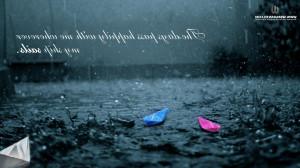 Rain water leaf quotes nature