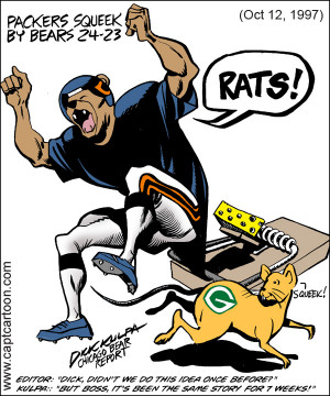 BELOW: 12 Chicago Bears - Green Bay Packers satire cartoons from 1989 ...