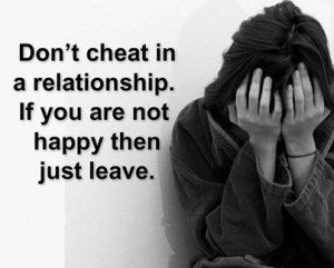 Don't cheat In A Relationship | Realtionship Picture Quotes