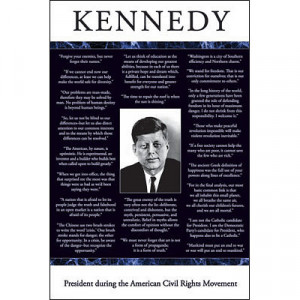 Title: John F Kennedy (Quotes) Art Poster Print