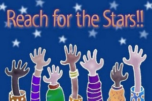 Taught to reach for the stars when we was little kids
