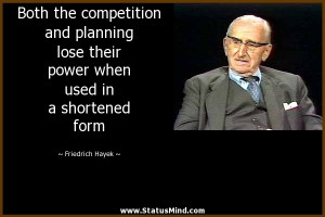 Both the competition and planning lose their power when used in a ...