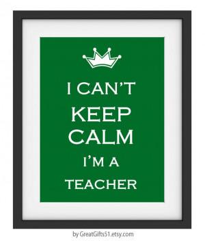 Cant Keep Calm I'm a Teacher art Teacher desk accessories Teacher ...