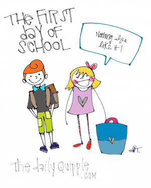 ... school back to school quotes elementary school illustration first day