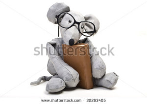 Funny Mouse With Glasses...