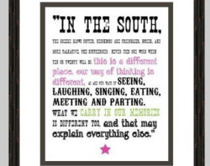 Popular items for southern quotes