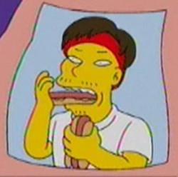Takeru Kobayashi Simpsons