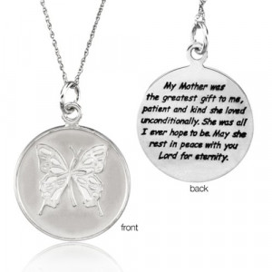 Loss Of Mother Memorial Necklace In Silver