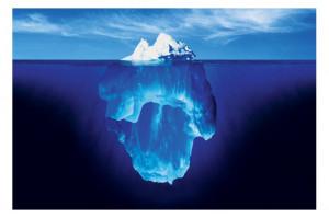 De la punta del iceberg al glaciar → iceberg