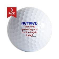 Funny Retirement Quotes Golf Balls