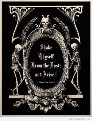 The Undead Arise Gothic Macabre Art Print quote