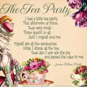 The Tea Party Poem