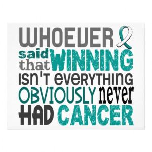 Whoever Said Cervical Cancer Custom Flyer