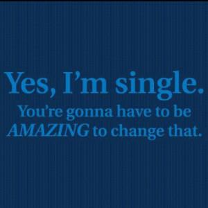 yes i am single