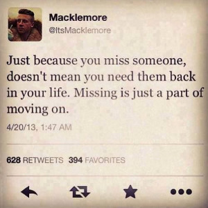 Just because you miss someone, doesn't mean you need them back in ...