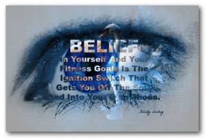 Blue EYE Believe Poster