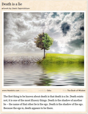 Death is a lie #Osho #quotes #death #ego