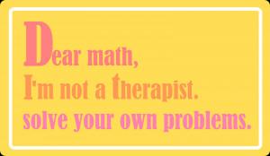 free printable funny math quote - Lustige Sprüche VIII - freebie