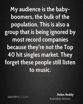 ... record companies because they're not the Top 40 hit singles market