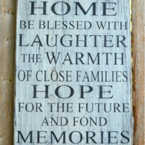 Rustic Wood Sign Blessings Wooden Quotes Distressed Inspirational Home ...