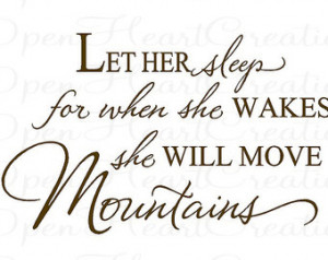 ... Move Mountains Wall Decal - Baby Nursery Vinyl Wall Quote 22H x 36W