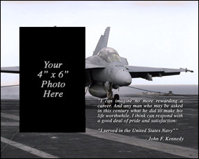Navy JFK Quote Picture Frame (Super Hornet Version)