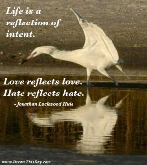 Life is a reflection of intent .