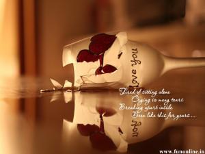 Beautiful Love Failure Quote Wallpaper