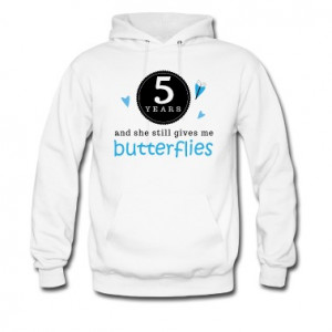 3rd anniversary funny quote hooded sweatshirt