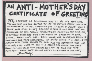 anti mother s day greeting for people who hate their mother and for ...