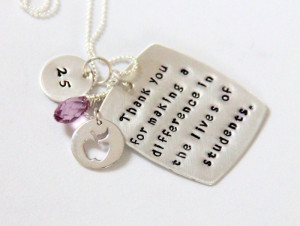 Personalized necklaces for retired women