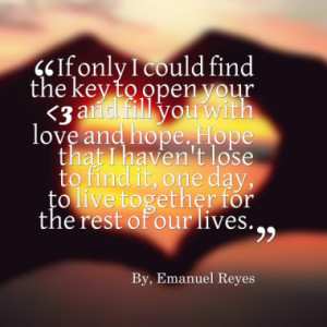 lose to find it one day to live together for the rest of our lives ...