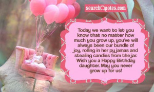 Mother To Daughter Birthday Wish Quotes