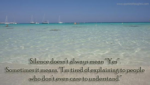 Nice Quotes-Thoughts-Best Quotes-Nice Quotes-Silence