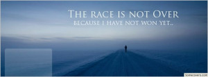 Race Quotes Facebook Cover